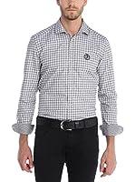 SIR RAYMOND TAILOR Camisa Hombre (Gris / Blanco)