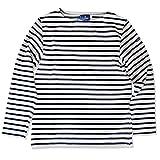 (ルミノア)Le minor ボートネック ボーダー カットソー バスクシャツ BOATNECK L/S CUTSAW ナチュラル/ブラック  ECRU/Noir