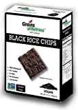 Gluten Free 100% Wholegrain Black Rice Cracker Chips (Pack of 12)