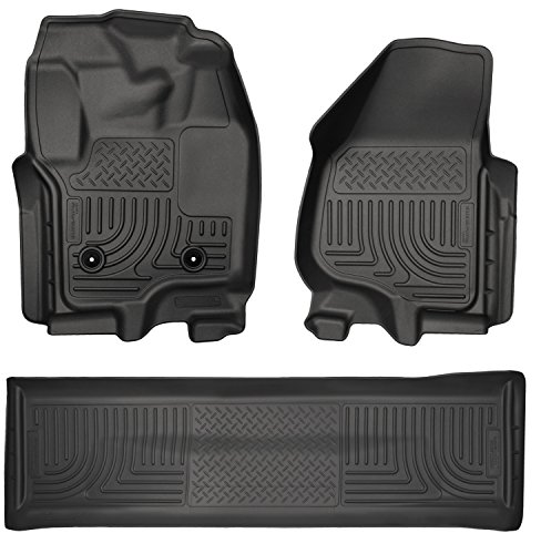 Husky Liners Custom Fit WeatherBeater Molded Front and Second Seat Floor Liner for Select Ford F-250 /F-350 Models (Black) (Husky Floor Mats Ford F250 compare prices)