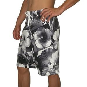 Shark Mouth Eyes Men's Quick Dry Beach Board Shorts Summer ... |Shark Board Shorts For Men