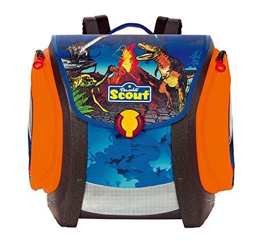 Scout Schulranzen Mega Dino Rex Blau 49000353700