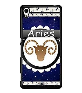 Fuson 2D Printed Sunsign Aries Designer back case cover for Sony Xperia Z4 - D4430