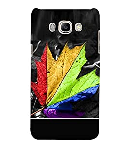 Multicolour Leaf 3D Hard Polycarbonate Designer Back Case Cover for Samsung Galaxy J7 (6) 2016 Edition :: Samsung Galaxy J7 (2016) Duos :: Samsung Galaxy J7 2016 J710F J710FN J710M J710H
