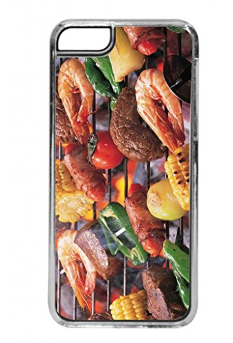 Barbeque Grill - Top View - Clear Iphone 5C Plastic Case - Compatible With Iphone 5C Only - Choose Your Color