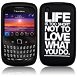 Black Life Is To Short Silcone Skin Case Cover For BlackBerry Curve 8520 9300
