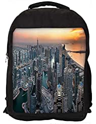 "Snoogg City Filled With Buildings Casual Laptop Backpak Fits All 15 - 15.6"" Inch Laptops"