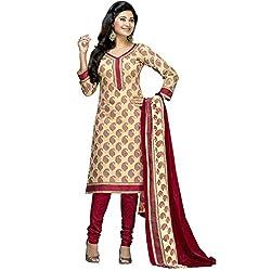 Royalisha printed cotton dress material.