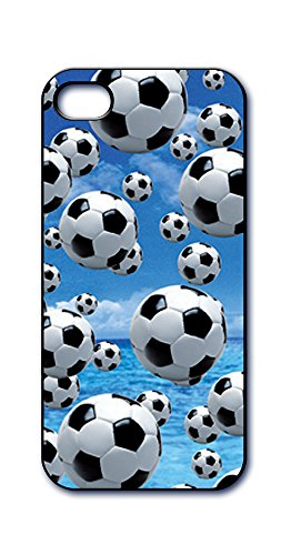 Dimension 9 Slim 3D Lenticular Cell Phone Case for Apple iPhone 5 or iPhone 5s - Soccer Balls Sports