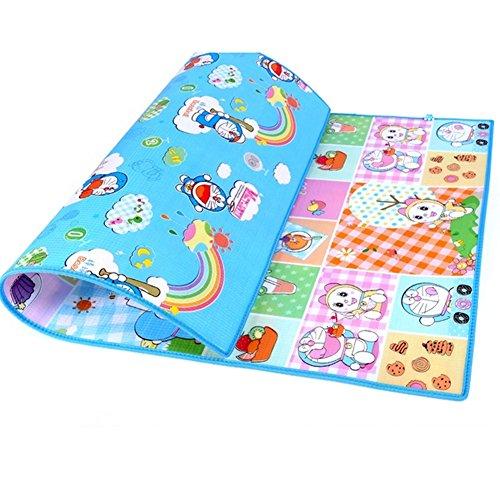 Blue Baby Foam Baby Game Mats 200*180*0.6Cm Doraemon Floor Mat