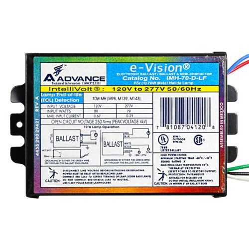 advance-imh70dlfm-70-watt-metal-halide-ballast-pulse-start-120-277-volt-ansi-m98-m139-or-m143-power-