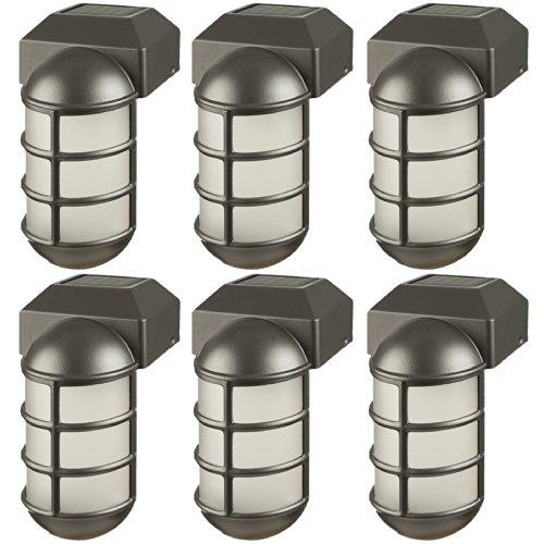 6 X GARDEN OUTDOOR BORDER POST STAKE SOLAR LED LIGHTS LAMPS LANTERNS SET PACK