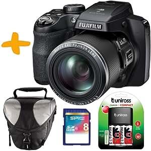 Bundle: Fuji S8400W Black Digital Bridge Camera + 8GB + Allcam Case + Battery Charger w/ Rechargeable Batteries (Fujifilm Finepix S8400W, WiFi, 16.2 MP CMOS Sensor, 44x Optical Zoom, 3.0 inch LCD, Electronic Viewfinder)