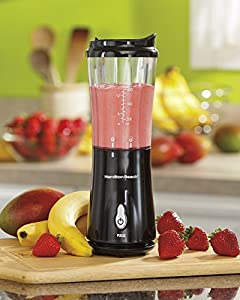 Hamilton Beach Black Electric Personal Blender Smoothie Maker Travel Cup Lid New