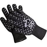 SPD Cooking Gloves Heat Resistant, 932°F Extreme High Heat Temperature Protection, BBQ Grill Gloves, Oven Mitts, Welders Kevlar Aramid Oven Gloves, Big Green Egg Accessories Grill Mitts