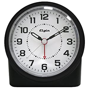 Elgin 3675E Battery-Operated Analog Alarm Clock