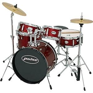pulse 5 piece junior drum set wine red musical instruments. Black Bedroom Furniture Sets. Home Design Ideas