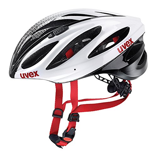 Uvex, Casco per bici da corsa Boss Race, Bianco (White-Black), 55-60 cm