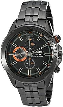 Seiko Men's SSC383 Japanese Quartz Black Watch