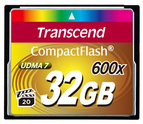 Transcend ExtremePlus Compact Flash Memory Card 600x 32 GB
