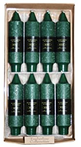 """Root 5"""" Unscented Timberline Collenette Candles, Dark Green, 8-Pack Box"""