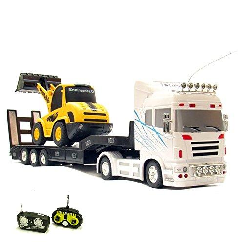 RC-ferngesteuerter-XXL-Truck-Bagger-beide-Modelle-ferngesteuert-LKW-Modellbau-Radlader-132-Soundeffekte-LEDs-Komplett-Set