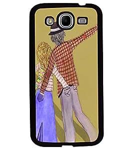 Fuson Premium Crazy Couple Metal Printed with Hard Plastic Back Case Cover for Samsung Galaxy Mega 5.8 i9150 i9152