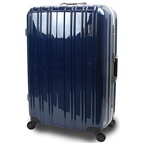 【SUCCESS サクセス】 スーツケース 大型 軽量 安心フレーム 【 TSAロック 搭載 ジェノバPC2015 ~ Lサイズ キャリーケース ( 76cm )】 (大型 Lサイズ(76cm), プレミアムブルー)