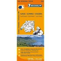 Schweiz Süd-West: Stadtpläne: Genève, Lausanne, Neuchatel, Fribourg, Sion. Ortsverzeichnis. Entfernungen und Fahrzeiten...