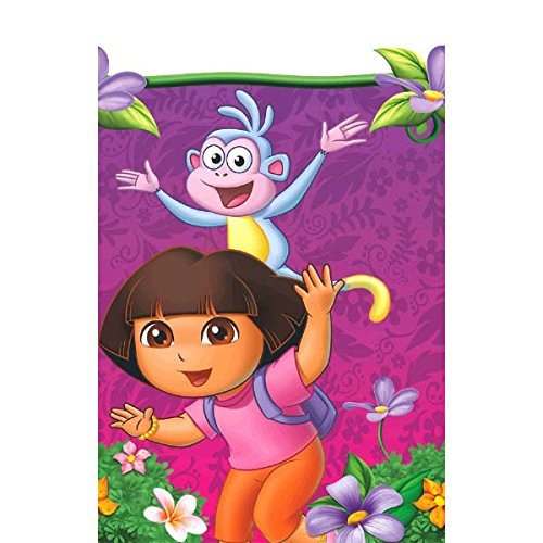 "American Greetings Dora The Explorer Plastic Table Cover Party Supplies, 54 x 96"" - 1"