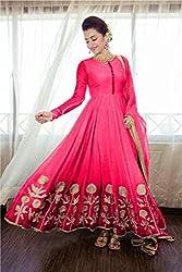 Bhakti Creation Women Georgette Dress Material