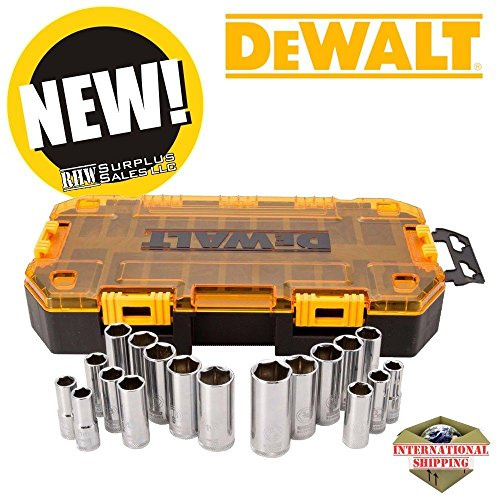 (Ship from USA) Dewalt DWMT73812 Socket Set Deep Dish 3/8in Drive 20 Piece Set with Case /ITEM NO#E8FH4F85451340 (Dish Drive compare prices)