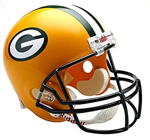 NFL Green Bay Packers Deluxe Replica Football Helmet by Riddell