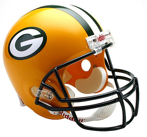 Green Bay Packers Deluxe Replica Riddell Full Size Helmet