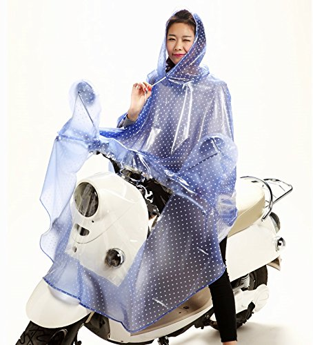 Motorcycle rain poncho election put a moped and motorbike bike every useful covers be eating 10 type 2 type! (Navy Blue type over each mirror to polka)