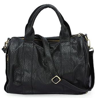 Black Shoulder Bag With Studded Bottom 60