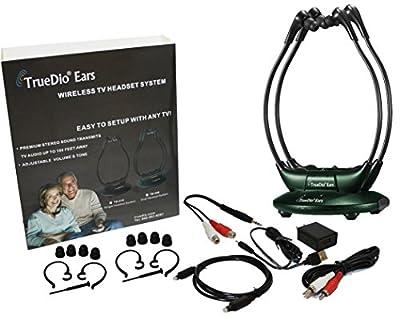 TrueDio® Ears TV Wireless Headset System HEADSET BUNDLE! - Includes 2 Wireless Headsets