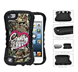 img - for Country Love Script Pink Heart Camo Oak Tree Pattern iPod Touch 5 (2-piece) Dual Layer High Impact Cell Phone Case book / textbook / text book