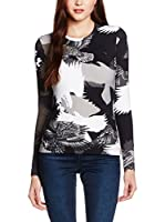 Just Cavalli Camiseta Manga Larga (Negro / Gris / Blanco)