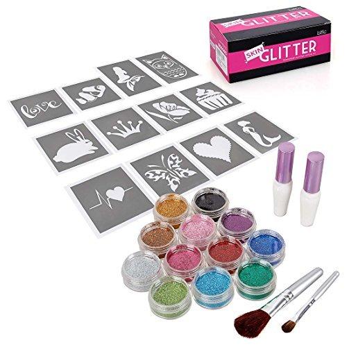 bmc-fiesta-divertido-temporal-moda-multicolor-purpurina-brillo-tatuaje-arte-corporal-diseno-kit-con-