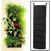 7 Pocket Hanging Vertical Garden Planter Indoor/Outdoor Herb Pot Home/Wall Decor