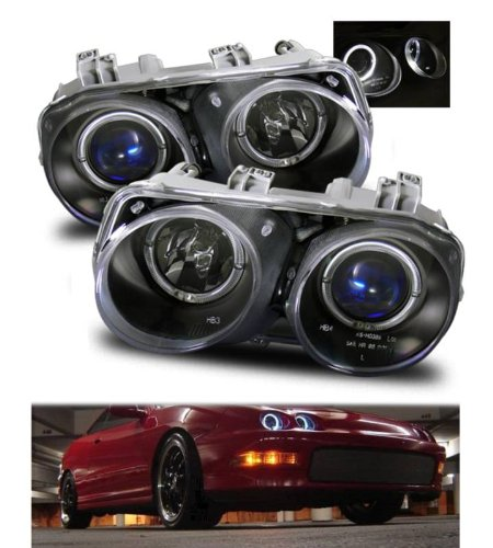 SPPC Projector Headlights Halo Black For Acura Integra - (Pair) (Halo Headlights Integra compare prices)