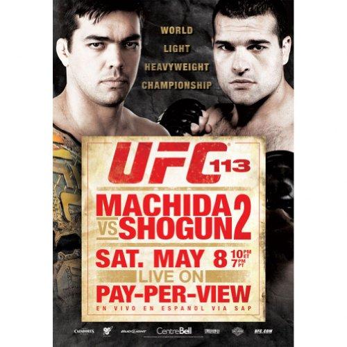 UFC 113 Autographed Poster