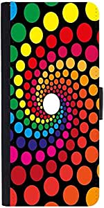 Snoogg Spiraling Circles 2791 Graphic Snap On Hard Back Leather + Pc Flip Cov...