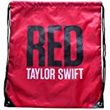 Taylor Swift Red Drawstring Backpack Bag Purse