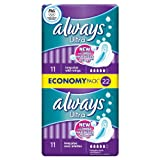 6 x Always Ultra Sanitary Towels Long Plus with Wings 22 pads