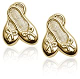 14k Yellow Gold Children's Ballet Slipper Earrings