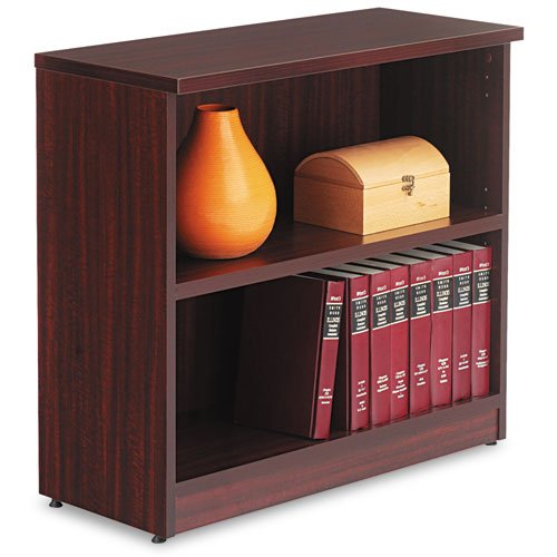 Alera - Valencia Series Bookcase, Two-Shelf, 31-3/4W X 14D X 29-1/2H, Mahogany Va63-3032My (Dmi Ea back-60178