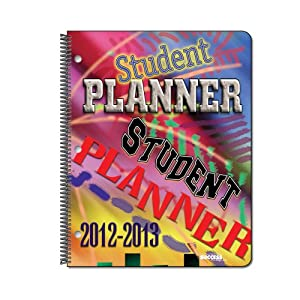 """2012-13 Student Planner - 2045D - Dated, Weekly, w/Subjects, 8.25"""" X 10.75"""""""