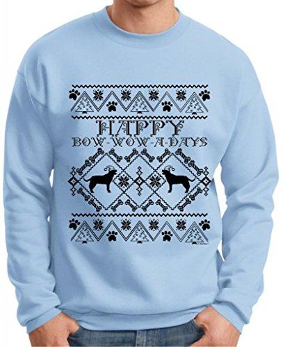 Bow Wow A Days Labrador Ugly Christmas Sweater Premium Crewneck Sweatshirt 3Xl Light Blue